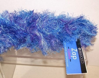 ON SALE Berroco Fuzzy Fun Fur Zap Yarn Blue Multi 2 Hanks 3461