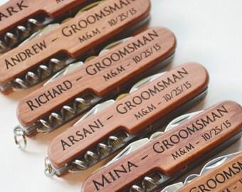 Set of 6 multi tool Knives, Personlaized, Groomsmen, Groomsman, Wedding, Gift for Him, Ushers, Groom, Engraved Knife