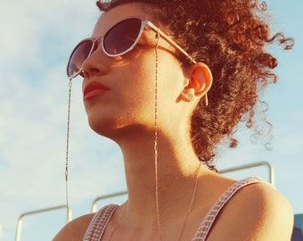 Beaded glasses chain boho gold sunglasses chain for women sunglass strap diamond eyeglass holder glasses lanyard eyeglass cord edgy - Blair