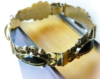 Sterling Panel Bracelet / Vintage Mexico