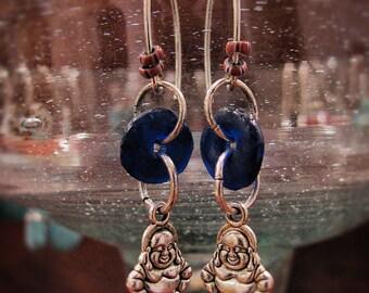 Boho earrings BLUE BUDDHA