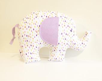 Elephant Pillow, Elephant Bedding, Elephant Plush, Baby Gift, Elephant Nursery, Elephant Baby Gift, Elephant Decor, Nursery Decor