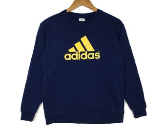 ADIDAS EQUIPMENT Stripes Blueblack Pullover Sweatshirt Medium Size 90s Hip Hop Swag Casual Trefoil Sportswear Gift
