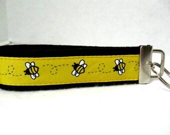 Bumblebee Key Fob Bee Key Chain Wristlet