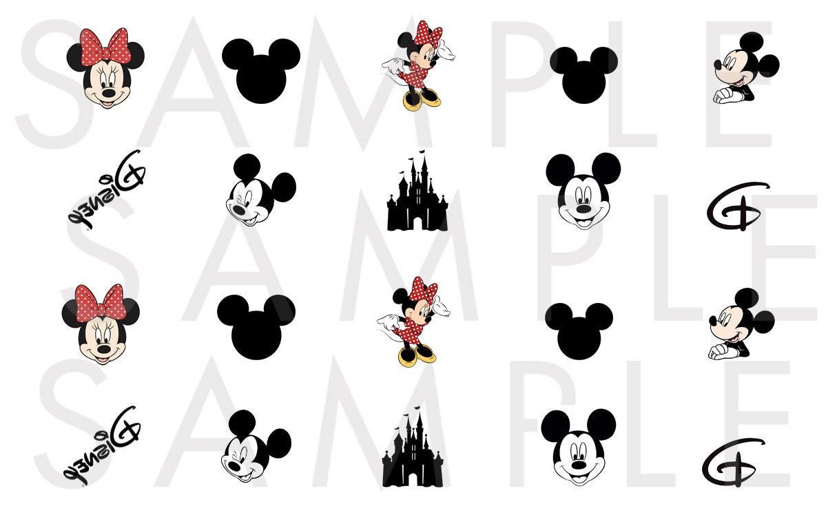 Disney Nail Decals / Disney Nails / Mickey Mouse Nail Decals ...