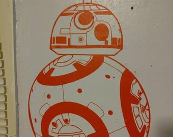 Star Wars BB8 Wall Decal- Wall Art