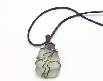 Wire Wrapped Sea Glass, Sea Glass Necklace, Beach Glass Necklace, Sea glass jewelry, Beach Glass Jewelry, Sea Glass Pendant, Beach Wedding