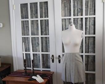 1960's Grey Wool Miniskirt