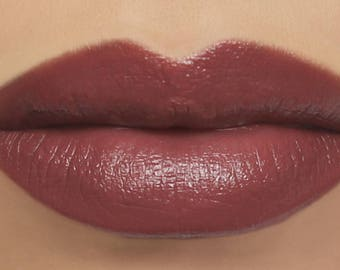 "Deep Rosy Mauve Lipstick - ""Serenade"" vegan natural mineral lipstick, lip tint, balm, lip colour"