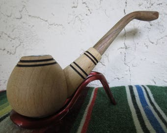 Hand Made Wood Smoking Tobacco Pipe - Vintage Wooden Pipe