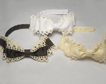 Ribbon Side Bow Headband Choose Your Color