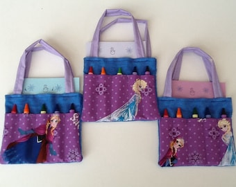 Frozen Children's Crayon Bag and Customized Paper, Birthday Party Favor