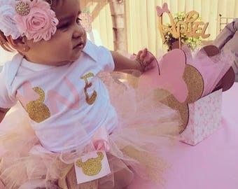Minnie Tutu, first birthday tutu, birthday tutu, minnie mouse set