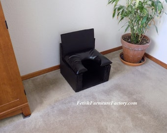 Mature: Smother Box, BDSM, Queening Chair, Queening Stool, Queening Throne, BDSM Toy, Face Sitting Chair, Mistress, Sex Chair, Sex, Oral Sex