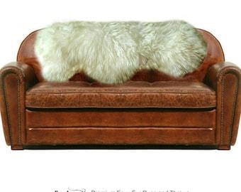 Plush Faux Fur Area Rug - Luxury Fur Thick Shaggy Quatro - Multi Pelt Sheepskin Shape - Designer Throw Rug - Fur Accents USA