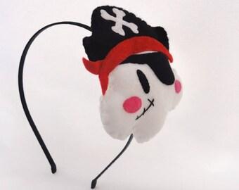 Black cloud headband pirates head
