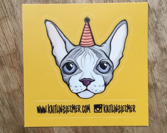 PARTY CAT Sticker!