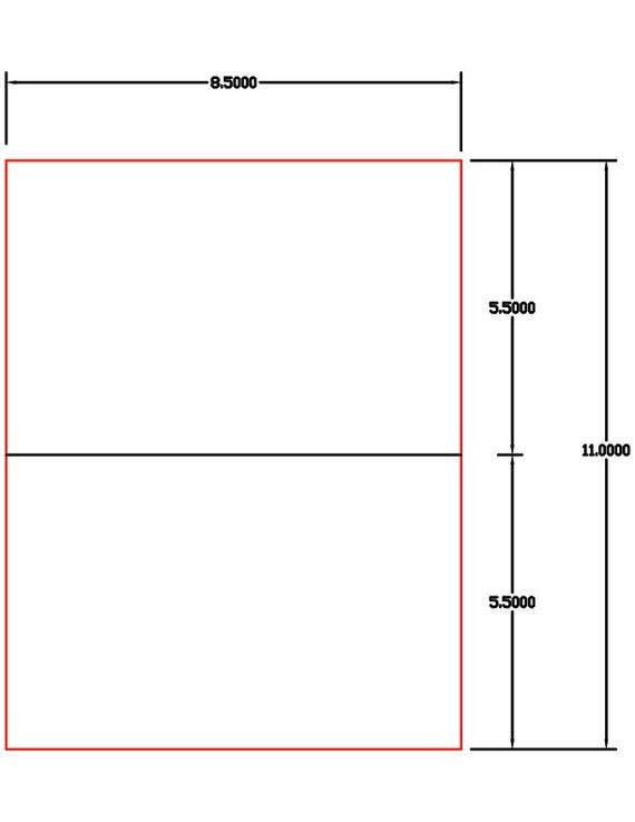 Laser Ink Jet Labels 1000 Sheets 8 12 X 5