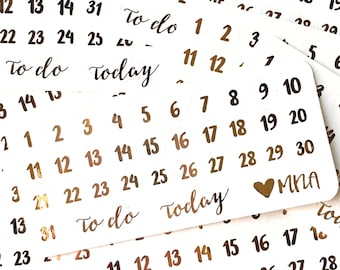 Foiled Date Dots - Clear Paper