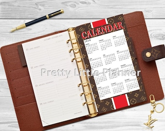 Year At A Glance Dashboard for your Louis Vuitton Agenda, Kate Spade, Filofax, Happy Planner, A5, A6 and more!