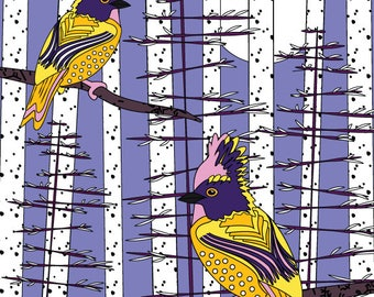 Snowbirds - Art Card - Blank inside