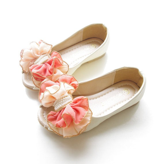 Ivory Peep Toe Girls Shoes-off White Ivory Toddler Girl Shoes/
