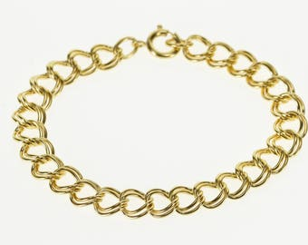 k Doubled Rounded Curb Link Fancy Chain Bracelet Gold Filled 6.5""