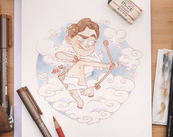 Aphrodite watercolor drawing #doodletimewithkaroline