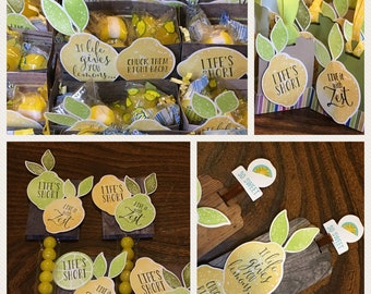 Lemon Gifts - Lemon Candy and Tea - Themed Gifts for Lemon Lovers