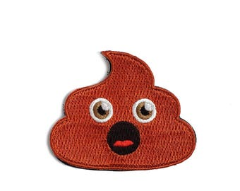 Poop Emoji Embroidered Patch