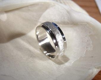 7mm Wedding Band  Sterling Silver RF311