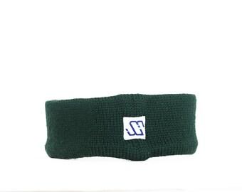 Murray Merkley headband | Retro ski ear warmers | Spring ear warmers | Green earmuffs | Green winter headband | 80's 90's ski ear warmers