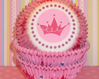 Pink Princess Cupcake Liners   (Qty 40)