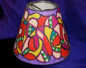OOAK Neon Bright Lampshade or Wacky CAKKY Vase