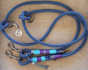 "Dog leash ""Blue Luck"""