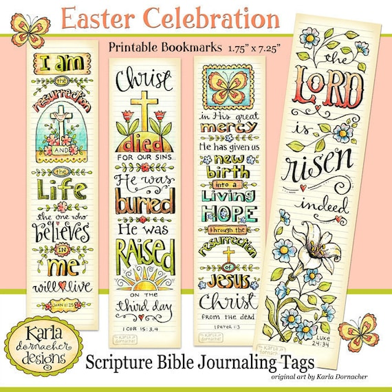 Easter Bible Bookmarks Full Color