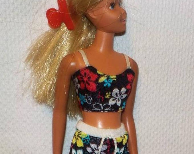 "11"" Vinatge 70s Sunset Malibu Francie Doll In Tagged Genuine Pink White Barbie Label Jogging Swimsuit"