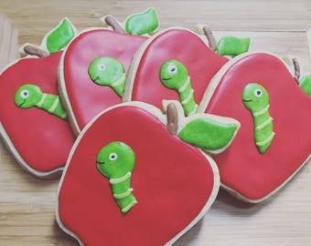 Back to School Bookworms - One dozen cookie favors