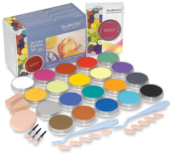Panpastels Genuine artists quality pastels 30201 Painting 20 pure color set of pastels offering the richest, ultra soft low-dust formulation