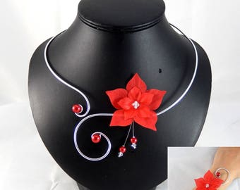Eline - Set red flower - customizable