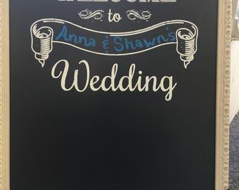 Wedding Chalkboard, Wedding Sign, Wedding Decor, Chalkboard