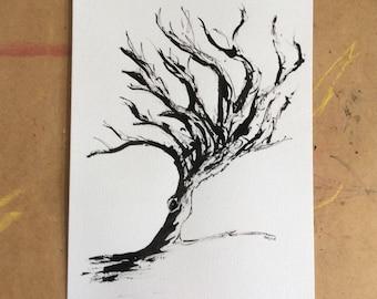 Original Tree art using black indian ink.