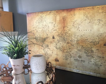 World maps push pin maps and travel related by worldvibestudio world map large canvas push pin map custom map decor world map gumiabroncs
