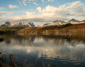 Grand Teton,Rocky Mountains, Lake,Reflection, Clouds, Wyoming, Photo,Nature Photography,Landscape,Wall Decor,Fine Art Print,Canvas,Metal Art