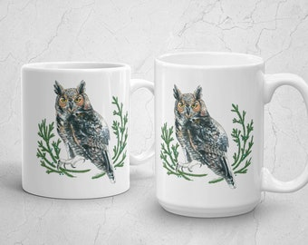 Great Horned Owl Mug Made in the USA 11oz or 15oz