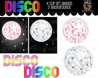 Disco Ball Digital Clip Art Disco Party Retro Clipart Dance Clipart 70s Disco Party Clipart Digital Retro Clip Art - Instant Download