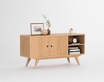 Record Player Stand, Vinyl Storage, Tv Stand, Media Cabinet, Midcentury