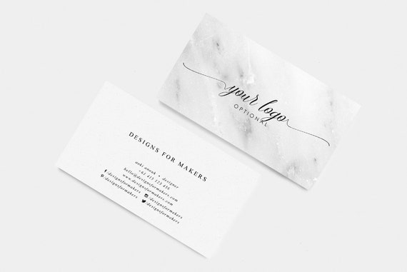 marble business card calligraphy business card premade business cards minimal luxe chic marbled texture background elegant modern
