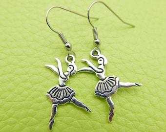 Ballet dancer Earrings stainless steel