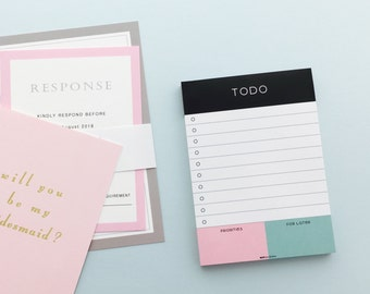 To Do List Notepad, Big Idea Notepad, To do with Priority, Pink and Green, Simple Notepad
